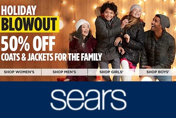 Sears Promo Code - 50% Off Coats & Jackets