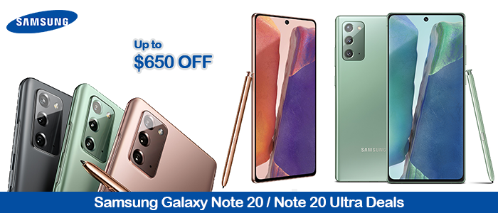 Samsung Galaxy Note 20 5G Black Friday Deals 2020