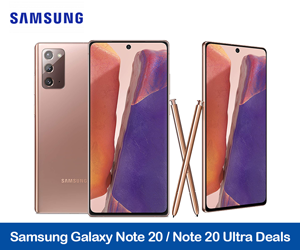 Samsung Galaxy Note20 Coupons & Deals Black Friday and Holiday 2020