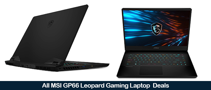 MSI GP66 Leopard Deals, Sales, Promo Codes, and Coupons Black Friday 2021