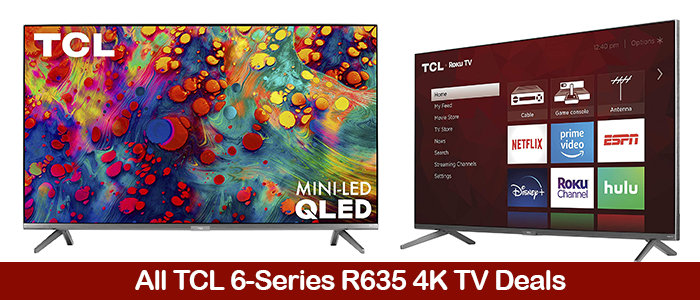 TCL 6-Series R635 Deals, Coupons, Sales, & Promo Codes Black Friday 2021