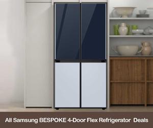 Samsung Bespoke 4-Door Flex refrigerator coupons, sales, deals, & promo codes 2021