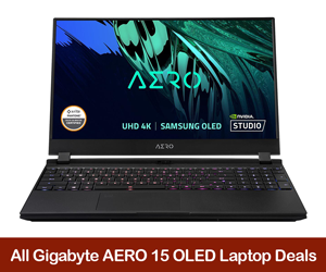 Gigabyte AERO 15 OLED Coupons, Sales, Discount Codes, & Black Friday Deals 2021
