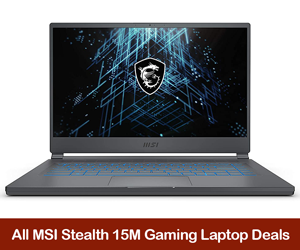 MSI Stealth 15M Coupons, Sales, Promo Codes, and Deals Black Friday 2021