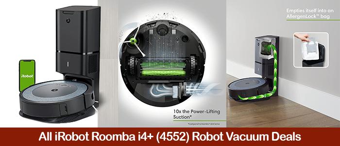 iRobot Roomba i4+ 4552 Deals, Coupons, Discounts, & Black Friday Sale 2021
