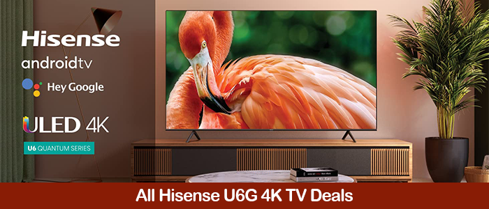 Hisense U6G Deals, Coupons, Promo Codes, Sales Black Friday 2021